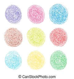 Color pencil round spots