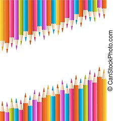 Color pencil set seamless background.