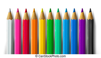 Color pencil spectrum