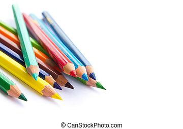 Color pencils background