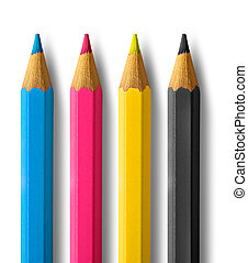 Color pencils cmyk