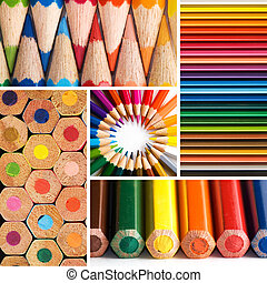 pencils - color pencils, collage