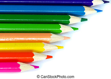 color pencils - Color pencils isolated on a white background