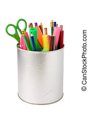 Color pencils - colorful pencils with white background