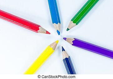 Color pencils crayon
