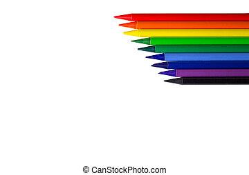 Color pencils, diagonal line