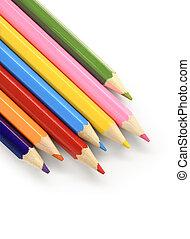 Color pencils diagonal