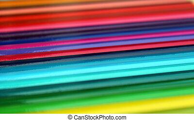 Color pencils gradient diagonal texture