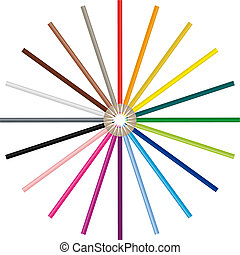 Color pencils in many different colors, handy to use because...