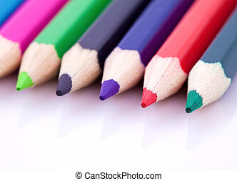 Color pencils isolated on white