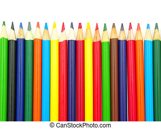 Color pencils isolated on a white background