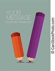 Color Pencils Poster Vector Background Template Design