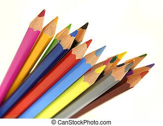 Color pencils setup