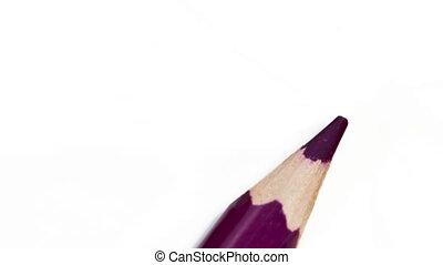 Color pencils spread around, stop-motion - Color pencils...