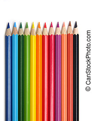Color pencils - Colored pencils, isolated on the white...
