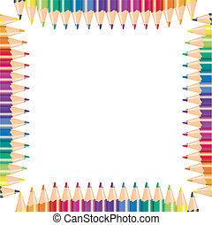 Color pencils, vector illustration