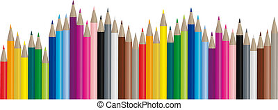 Color pencils - vector image - Color pencils in many...