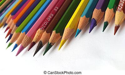Color pencils wave
