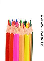 color pencils with copy space