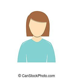color people formal woman icon