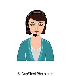 color people woman technological services icon