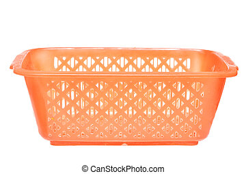 Color photo of a plastic basket