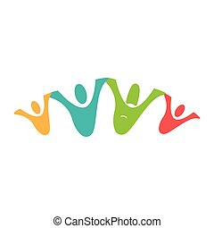 color pictogram with family unity