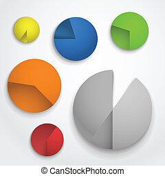Color pie-chart diagram collection