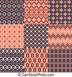 Color pixel set of background