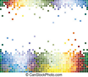 Color Pixels Abstract background - Colorful Pixelated...