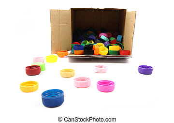 Color, plástico, Colección, tapas