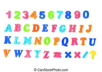 color plastic font