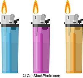 Plastic Lighter Set Tool for Habit Smoker.