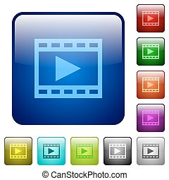 Color play movie square buttons