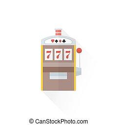 color playing slot machine icon illustration