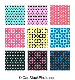 Color polka dots vector seamless pattern