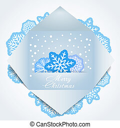 Color polygonal christmas greeting card. Place your text...