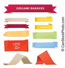 Color polygonal origami ribbons