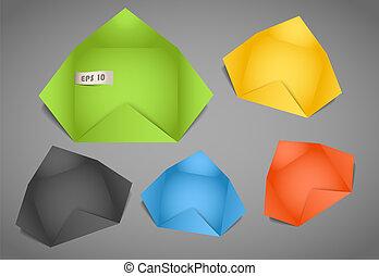Color polygonal paper envelope