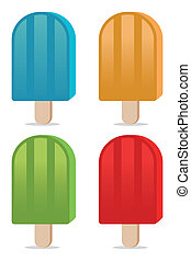 color popsicles