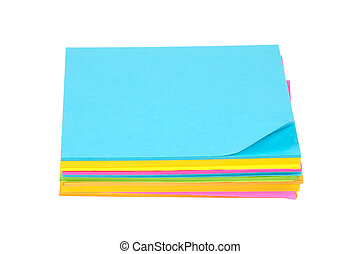 Color Postits - Isolated Color Postits