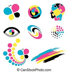 Color print icons