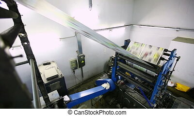 color print shop press machine - view from top