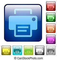 Color printer square buttons