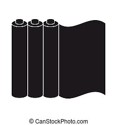 Color printing paper in black style isolated on white...