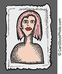 color profile icon, photo woman