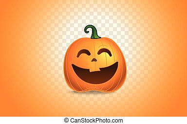 Color pumpkins silhouette on transparent background