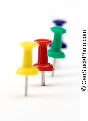 color pushpins - Close up of color pushpins with shallow DOF...