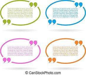 Color quote bubbles