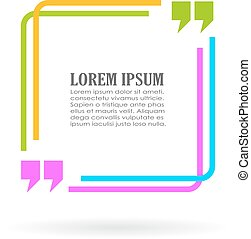 Color quote text frame